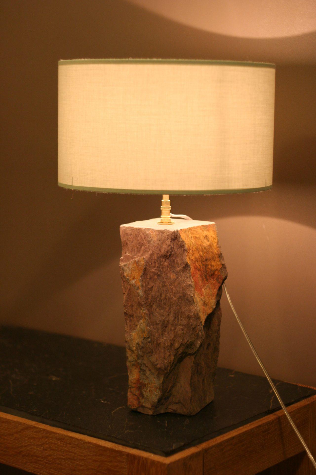 lampe fossile pièce unique